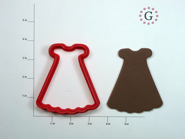 Ruffled Dress Cookie Cutter