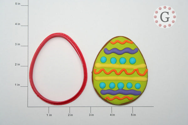Easter Egg Cookie Cutter - 2 Size Options