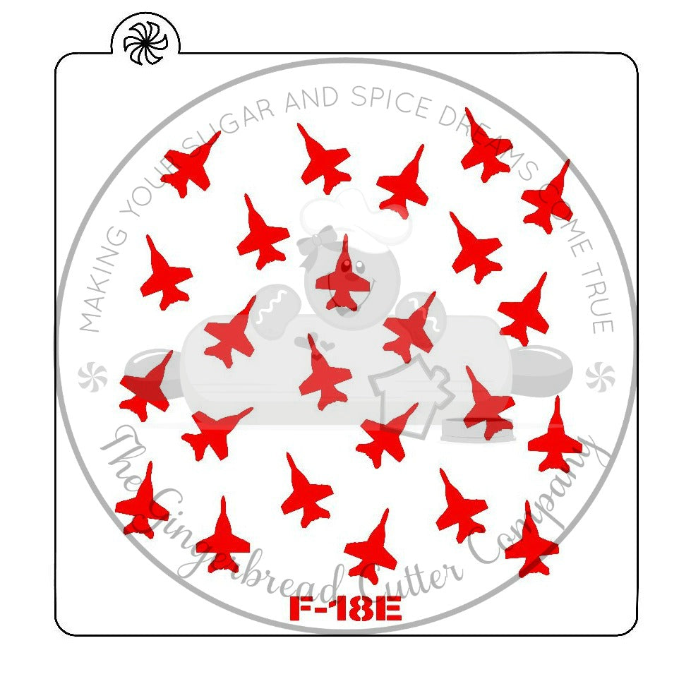 F-18/E Super Hornet Background Cookie Stencil