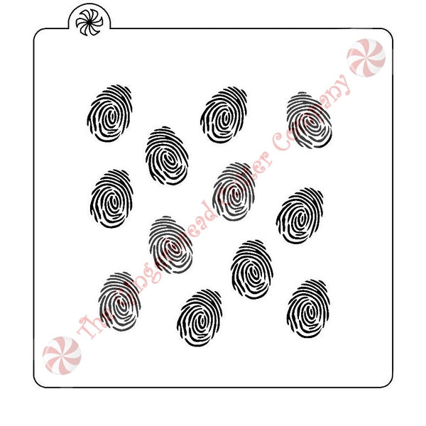 Fingerprint Background Cookie Stencil