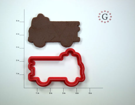 Fire Engine Cookie Cutter - 3 Size Options
