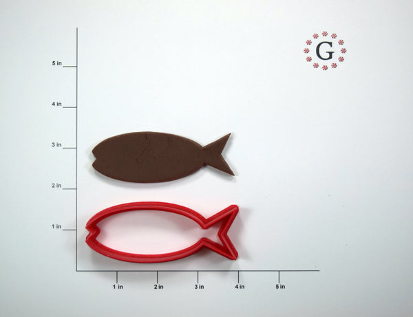 Long Fish Cookie Cutter