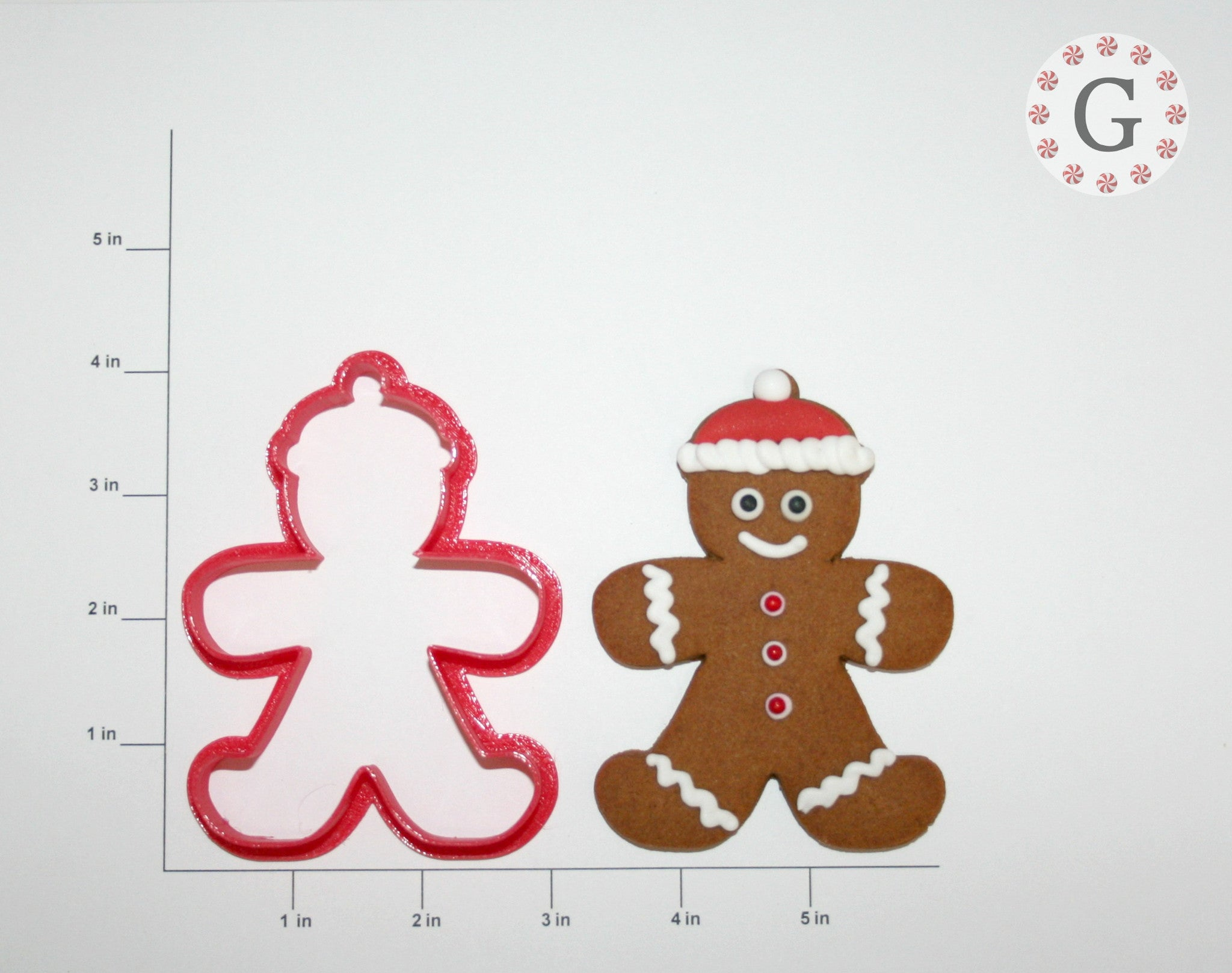 Gingerbread Man with Beanie Cookie Cutter