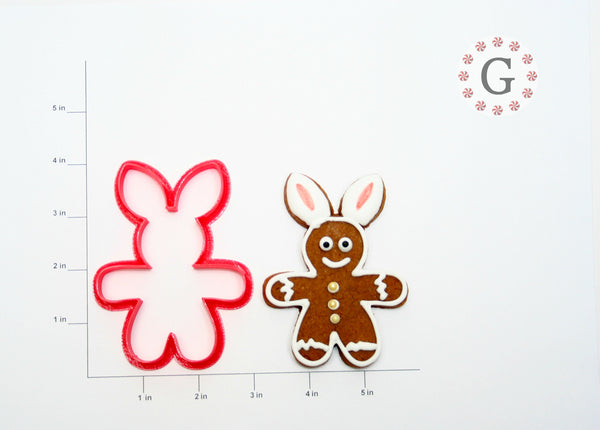 Gingerbread Man with Bunny Ears Cookie Cutter