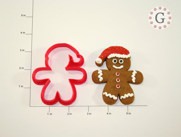 Gingerbread Santa Cookie Cutter