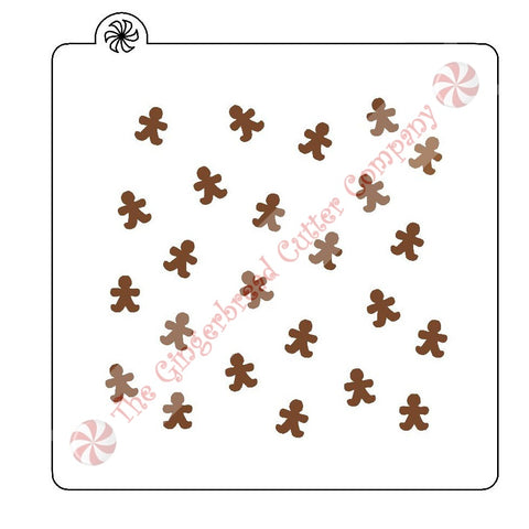 Gingerbread Man Background Cookie Stencil