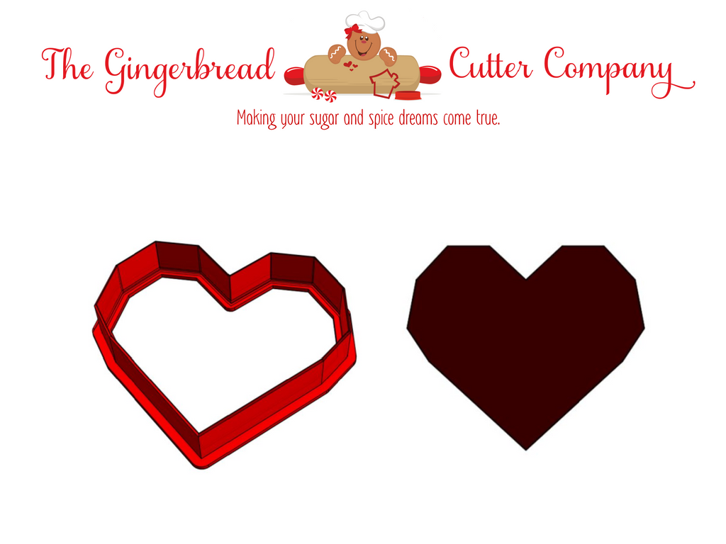 Geometric Heart Cookie Cutter