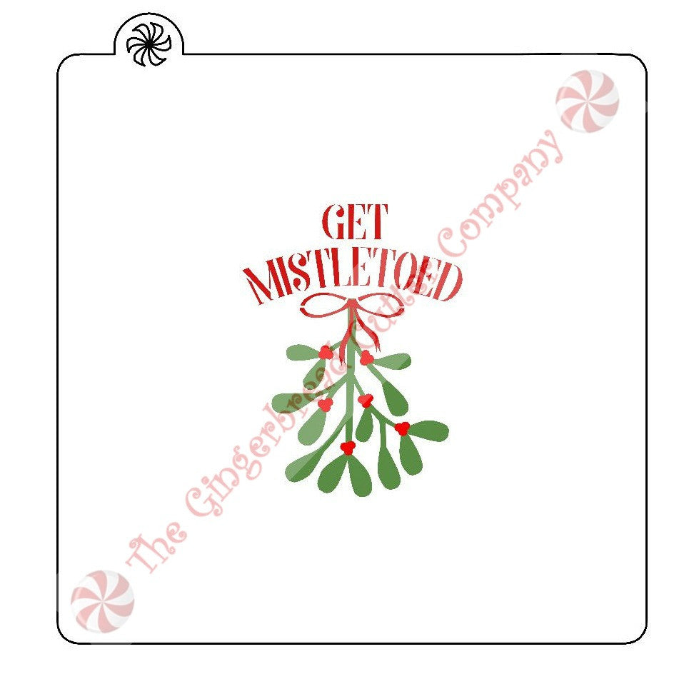 Get Mistletoed 2 Piece Cookie Stencil