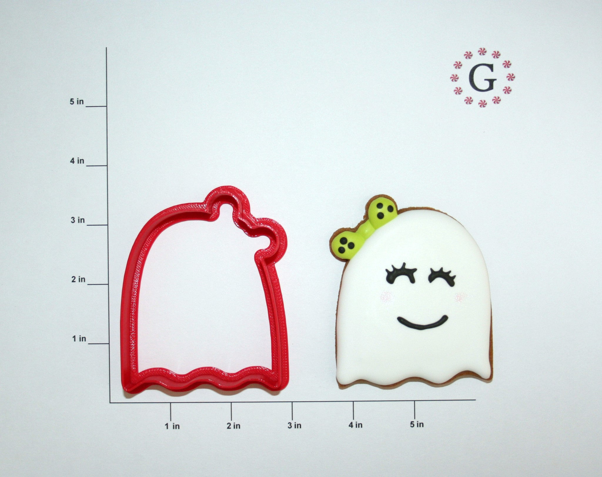 Girl Ghost Cookie Cutter - 2 Size Options