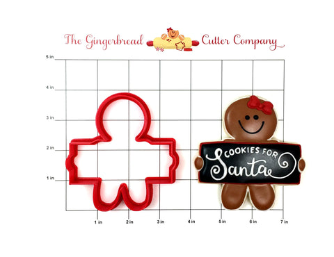 Gingerbread Man Plaque Cookie Cutter