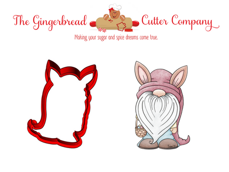 Gnome Bunny Cookie Cutter