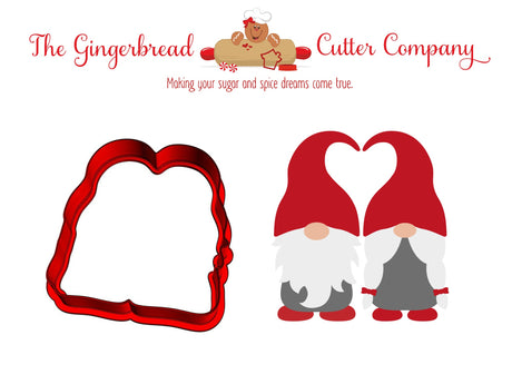 Gnome Love Pair Cookie Cutter