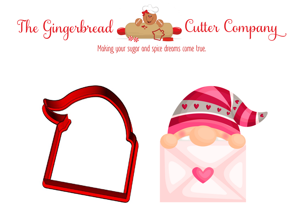Gnome Plaque Cookie Cutter