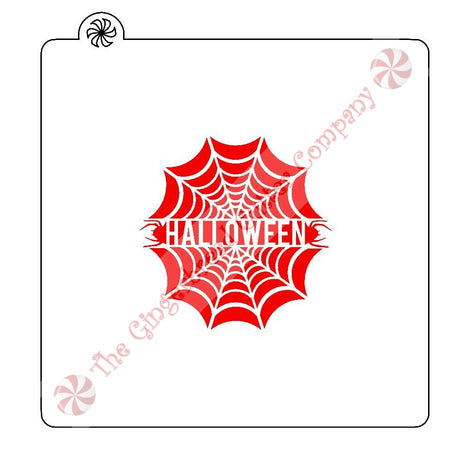 Halloween Spider Web Cookie Stencil