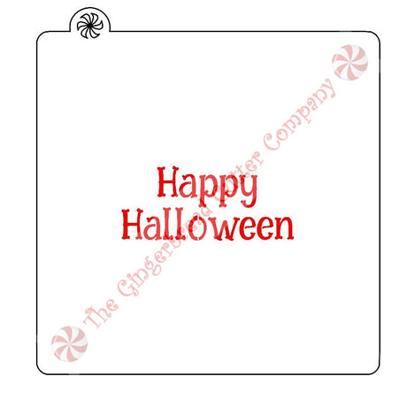 Happy Halloween Cookie Stencil