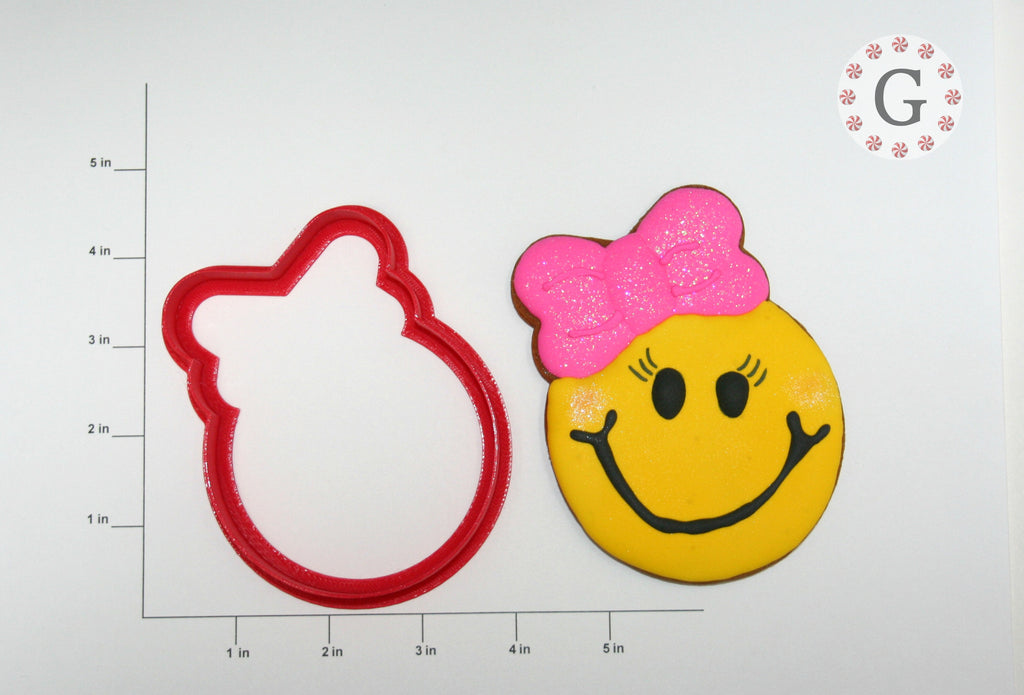 Smiley Face Girl Cookie Cutter