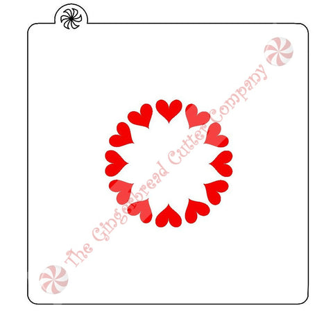 Heart Circle Single Cookie Stencil
