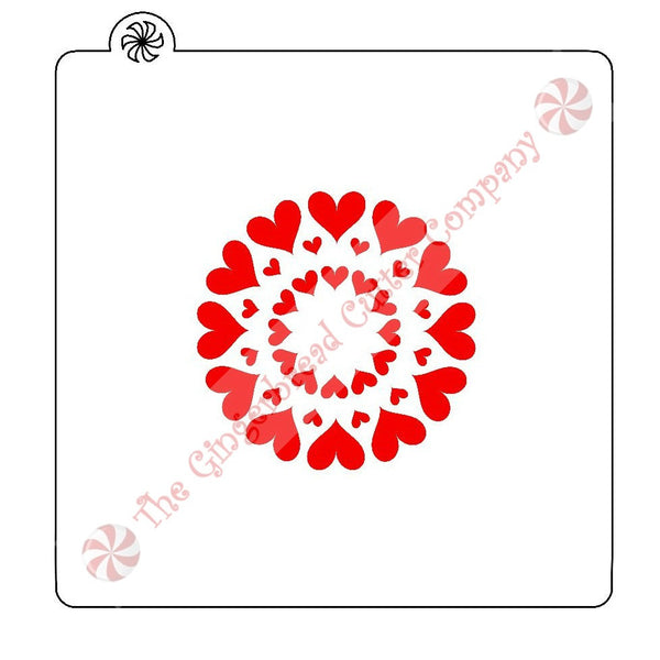 "Heart Circle 2.75"" Cookie Stencil"