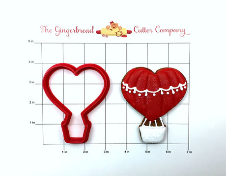 Heart Hot Air Balloon Cookie Cutter