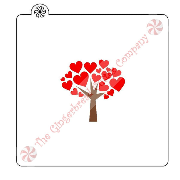 Heart Tree 2 Piece Cookie Stencil