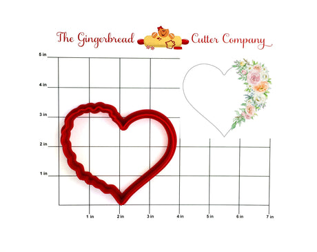 Floral Heart-Side Cookie Cutter