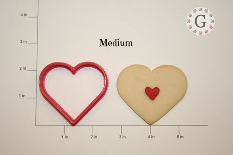 Heart Cookie Cutter - 3 Size Options