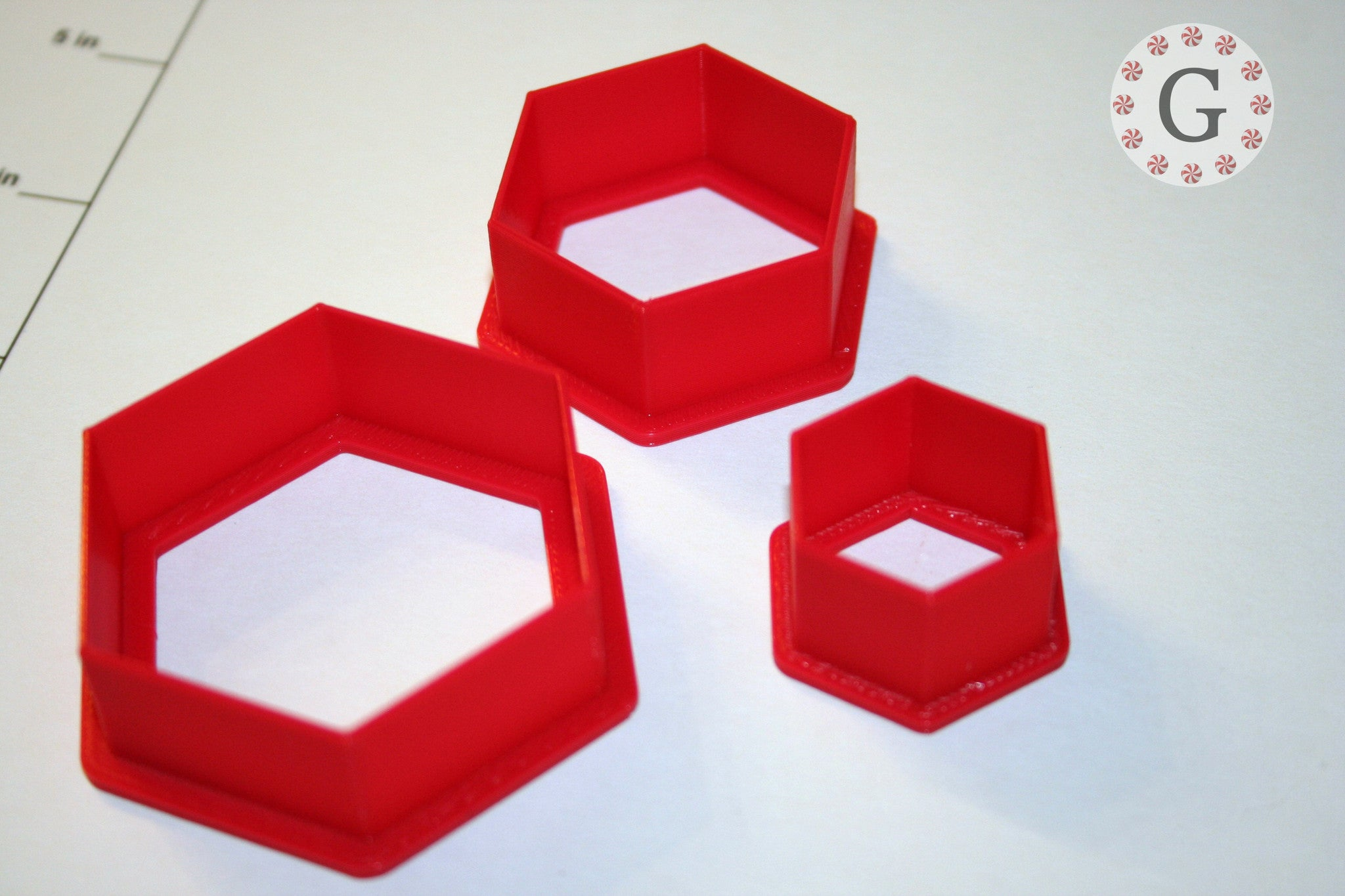 Hexagon Cookie Cutter - 3 Size Options