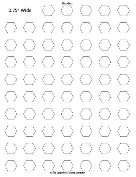 Hexagon Royal Icing Transfer Template