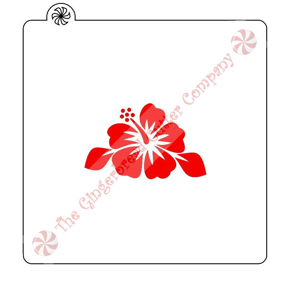Hibiscus Flower Cookie Stencil