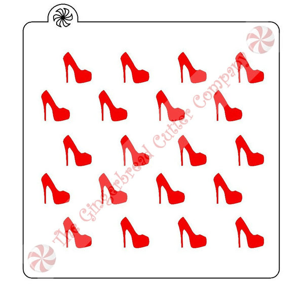 High Heel Background Cookie Stencil