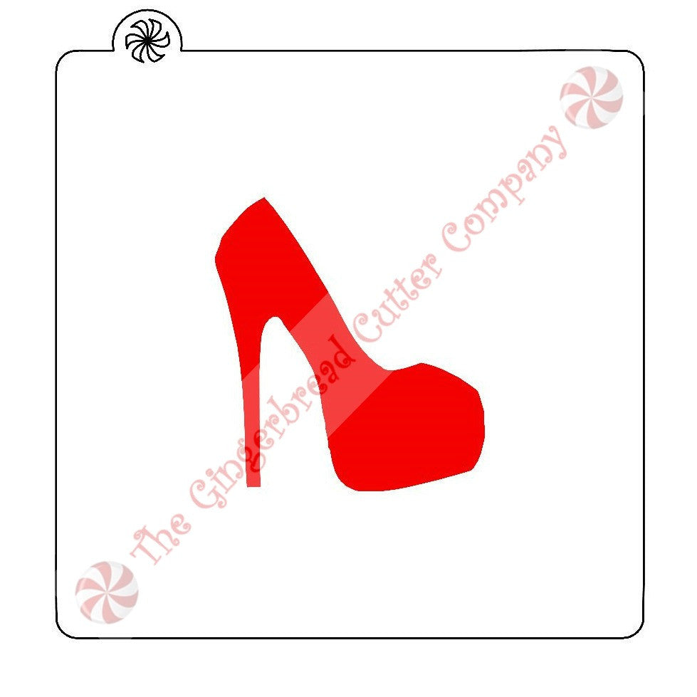 High Heel Cookie Stencil