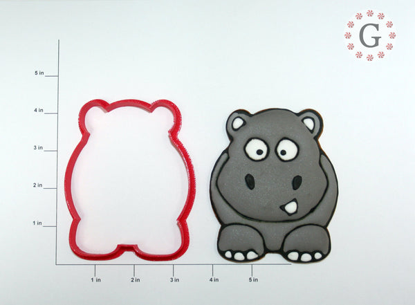 Herman the Hippo Cookie Cutter