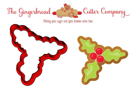 Holly Cookie Cutter