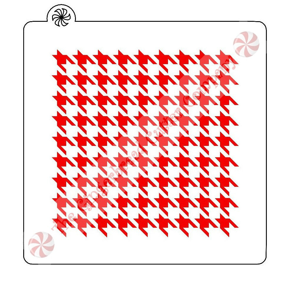 Houndstooth Background Cookie Stencil