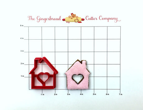 House with Heart Cutout Cookie Cutter