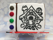 "PYO Stencil - Gingerbread House by ""DRAWN by Krista"""