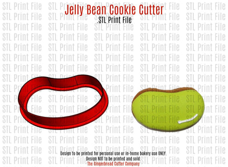 Jelly Bean Cookie Cutter .STL Print File