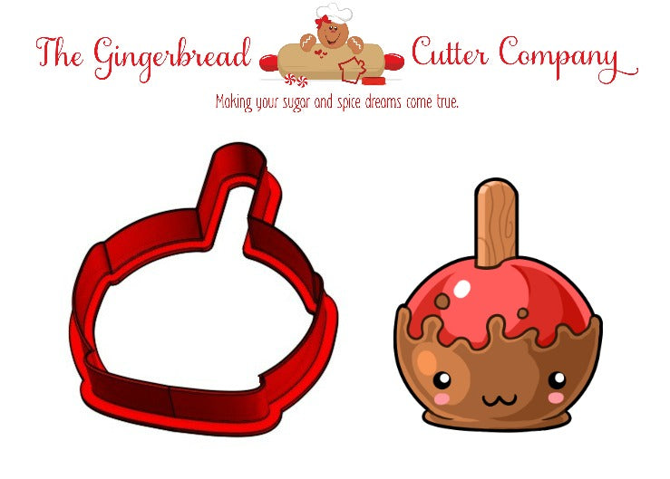 Kawaii Caramel Apple Cookie Cutter