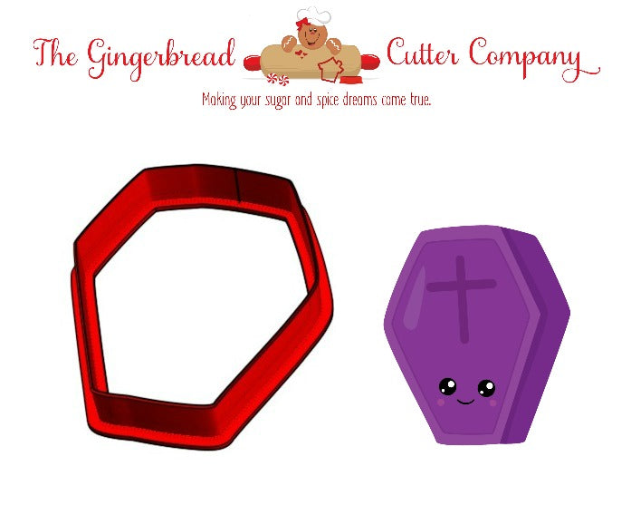 Kawaii Coffin Cookie Cutter