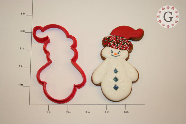 Snowman with Knit Hat Cookie Cutter
