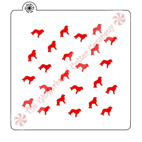 Kuvasz Background Cookie Stencil