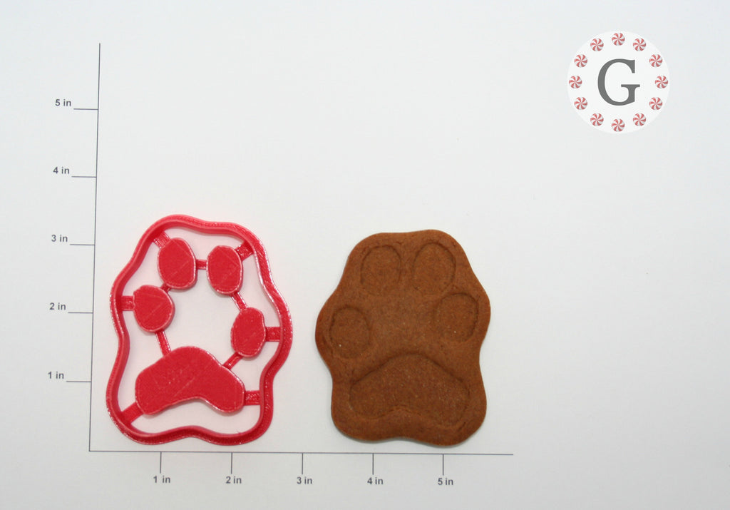 Large Dog Paw Print Cookie Cutter