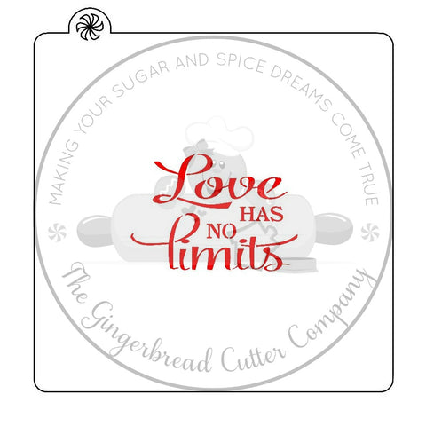 Love Has No Limits Cookie Stencil