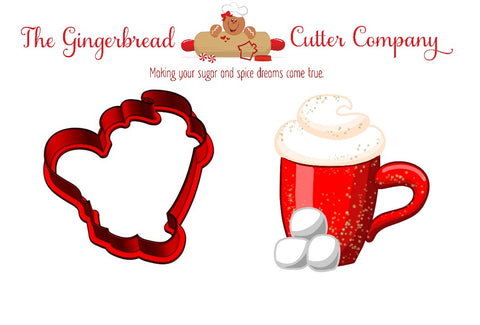 Cocoa Mug with Marshmallows Cookie Cutter