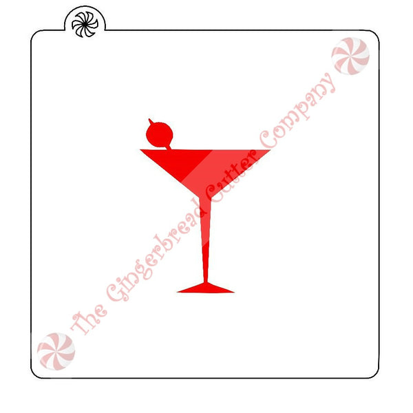 Martini Cookie Stencil