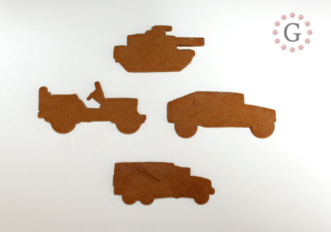 Military Tank Cookie Cutter