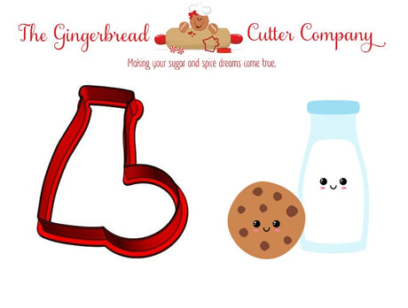 We Go Together Like...Milk & Cookies Cookie Cutter