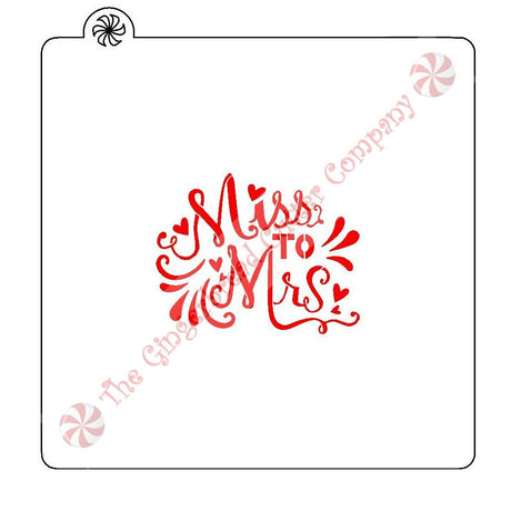 Miss To Mrs Cookie Stencil