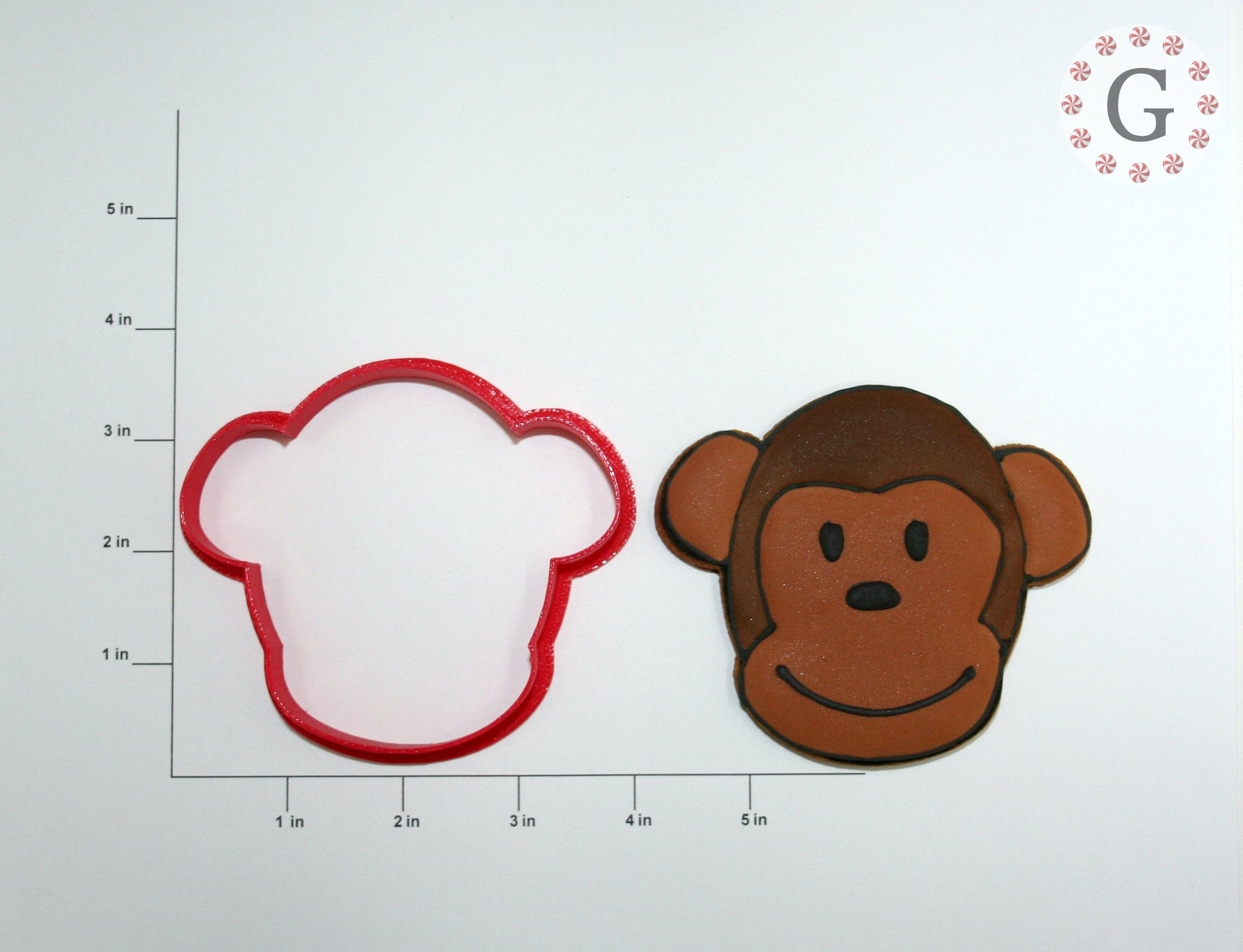 Miles the Monkey Cookie Cutter