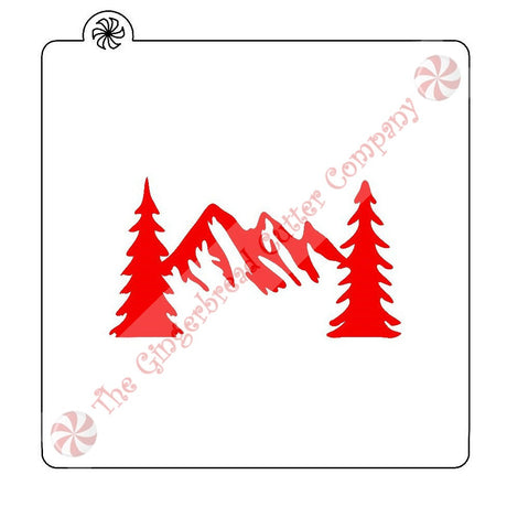 Mountain Trees Cookie Stencil